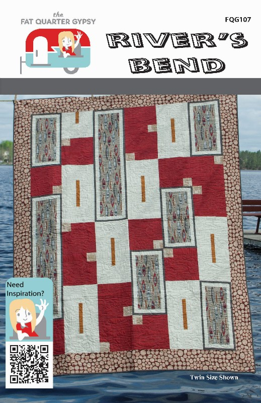 Fat Quarter Gypsy River's Bend Quilt Pattern