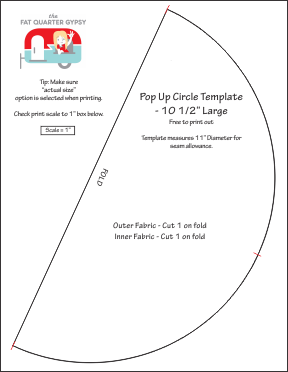 Circle Template for 10 inch pop up