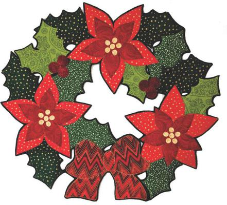Lacy Poinsettia Wreath